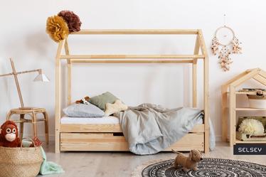 Łóżko Kellen domek dziecięcy z drewna