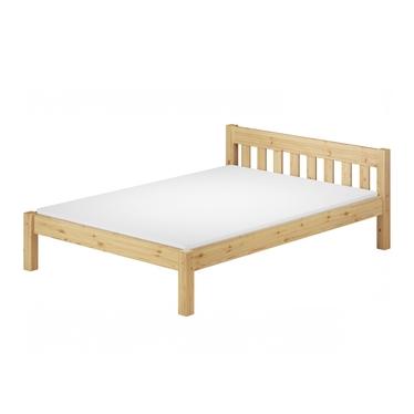 Łóżko Regassa z sosnowego drewna ze stelażem