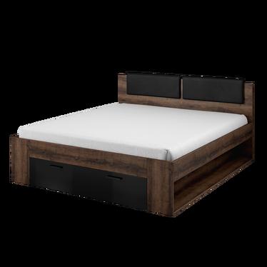 Łóżko Stanley z szufladą i tapicerowanym zagłowiem