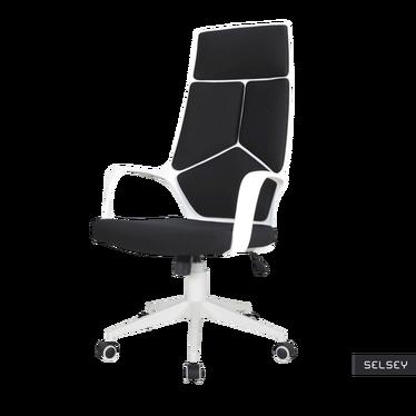 Fotel biurowy Quinto czarno - biały