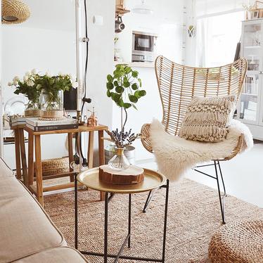 Krzesło Liera z naturalnego rattanu