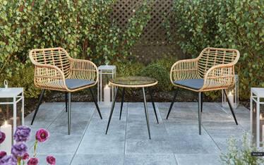 Zestaw ogrodowy Haldir stolik z dwoma krzesłami