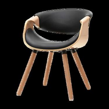Krzesło Bent dąb - czarny
