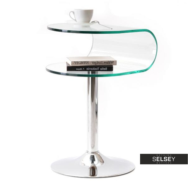 Stolik kawowy Ruby 40x41 cm szklany