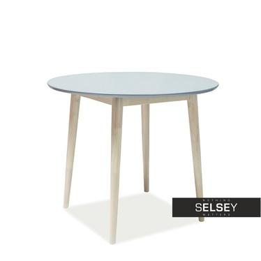 Stół Falkvik średnica 90 cm z szarym blatem
