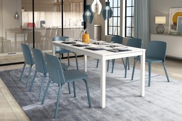 Włoski stół rozkładany Alberto 120-180x80 cm biały