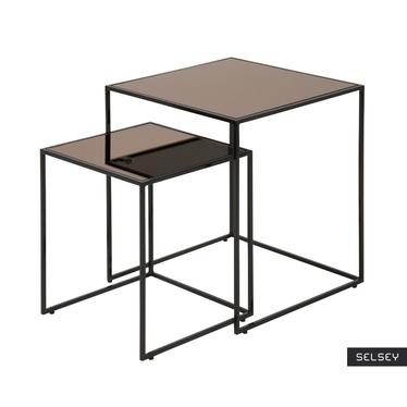 Zestaw dwóch stolików kawowych Cestica 45x45 cm i 35x35 cm