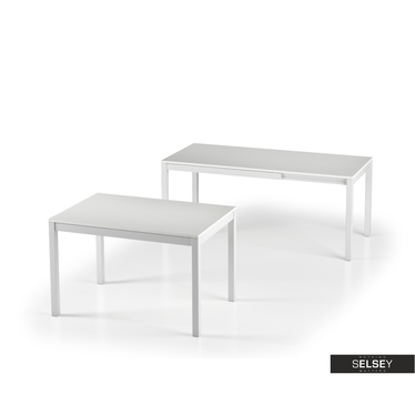 Włoski stół rozkładany Alberto 120(180)x80 biały