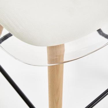 Hoker Covelo transparentny z białym siedziskiem