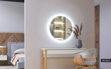 Lustro okrągłe Gerpian 60x60 cm LED