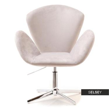 Fotel biurowy Swan szary velvet