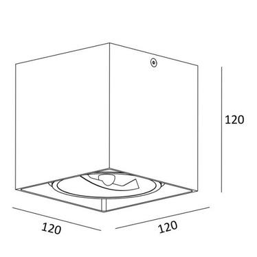 Spot Pence kwadratowy czarny