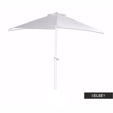 Parasol ogrodowy przyścienny biały