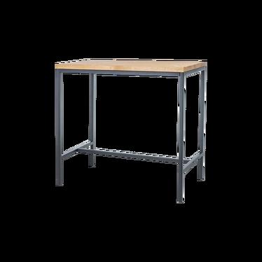 Stół barowy Maisie 110x60 cm z litego drewna dębowego