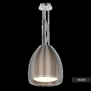 Lampa wisząca Allen średnica 30 cm srebrna