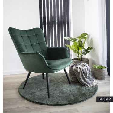 Fotel Glaber zielony velvet