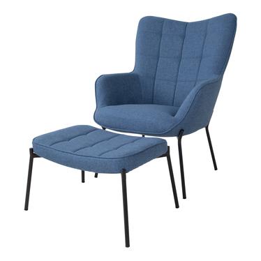 Fotel Glaber niebieski