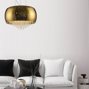 Lampa wisząca Tiffany średnica 50 cm złota