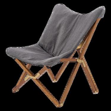Krzesło składane Avion szare - orzech