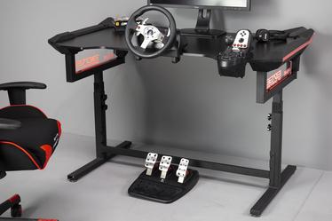 Biurko gamingowe E-Blue Hex czarne z podświetlaniem i ergonomicznym blatem