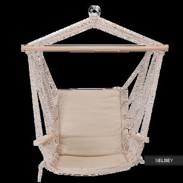 Hamak siedzisko Modern z oparciem i podłokietnikami kremowy