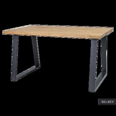 Stół Judd 150x90 cm z litego drewna dębowego