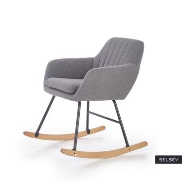 Fotel bujany Larin popielaty
