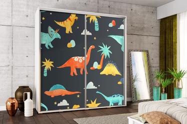 Szafa Wenecja 205 cm Wesołe dinozaury