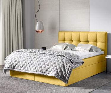 Łóżko kontynentalne Rekius z pojemnikiem na pościel w tkaninie hydrofobowej