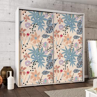 Szafa Wenecja 205 cm Malowane kwiaty pastelowe
