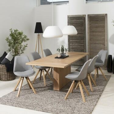 Zestaw dwóch krzeseł tapicerowanych Djum jasnoszare