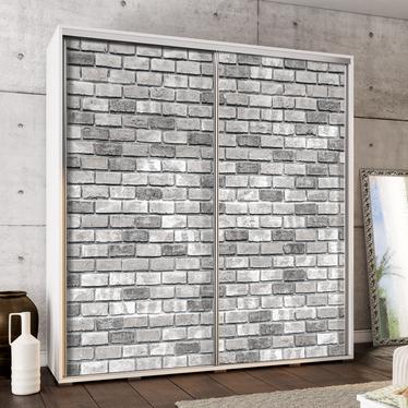 Szafa Wenecja 205 cm Szare cegiełki
