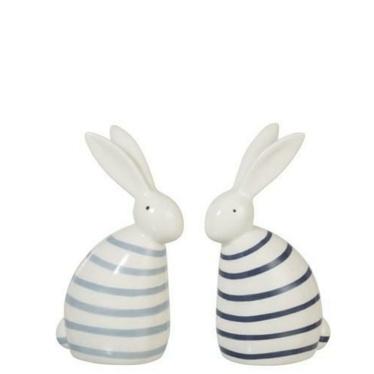 Dekoracja Rabbit Strip ozdobna figurka w jasnoniebieskie paski