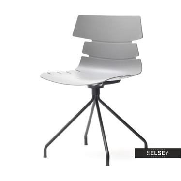 Krzesło Zac rod szare z tworzywa