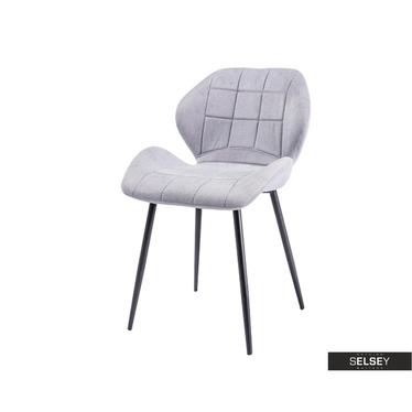 Krzesło tapicerowane Lasel jasnoszare