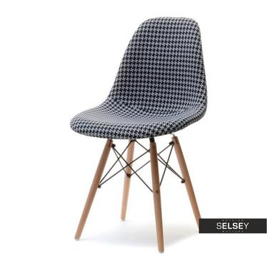 Krzesło MPC wood tap pepitka na drewnianych nogach