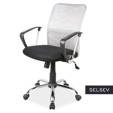 Fotel biurowy Marlin szaro - czarny
