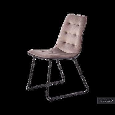 Krzesło Levi popielate tapicerowane