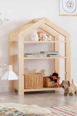 Regał Young dziecięcy domek z drewna wysokość 95 cm