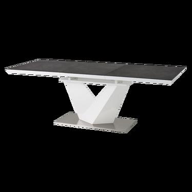 Stół Aramoko II 160(220)X90 cm szaro - biały