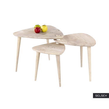 Zestaw stolików kawowych Tutti 99x91 cm