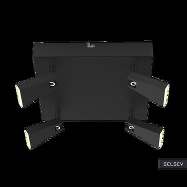 Lampa sufitowa Vanessa czarna x4