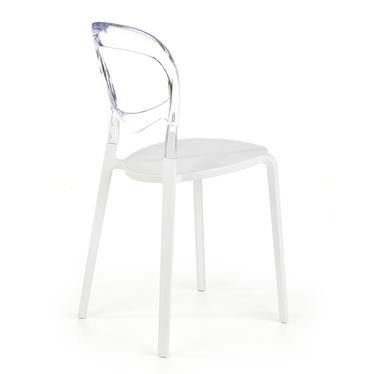 Krzesło Bondo biało - transparentne
