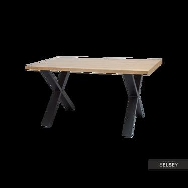Stół Holeby 180x90 cm z litego drewna dębowego