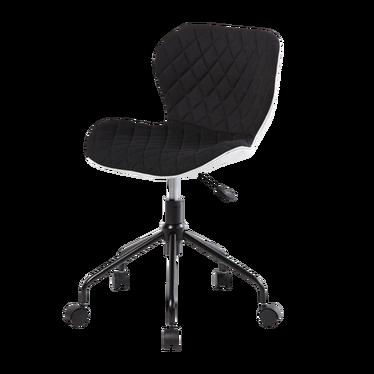 Fotel biurowy Marlo czarno - biały