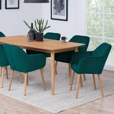 Krzesło Elidi butelkowa zieleń tapicerowane