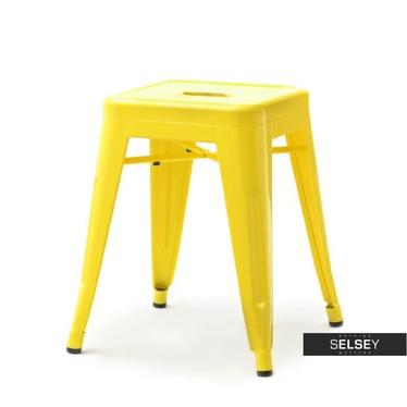 Taboret metalowy Alfredo żółty