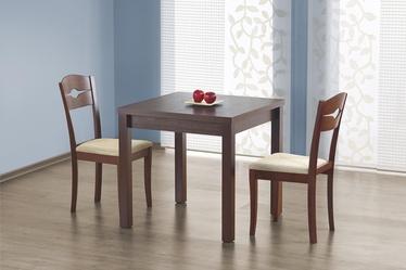 Stół rozkładany Lea 80-160x80 cm ciemny orzech