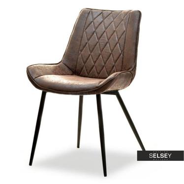 Krzesło Adel brązowe vintage