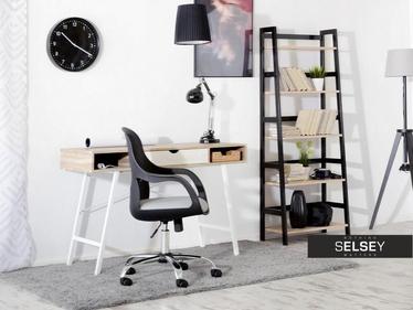 Fotel biurowy Rino czarno - szary obrotowy